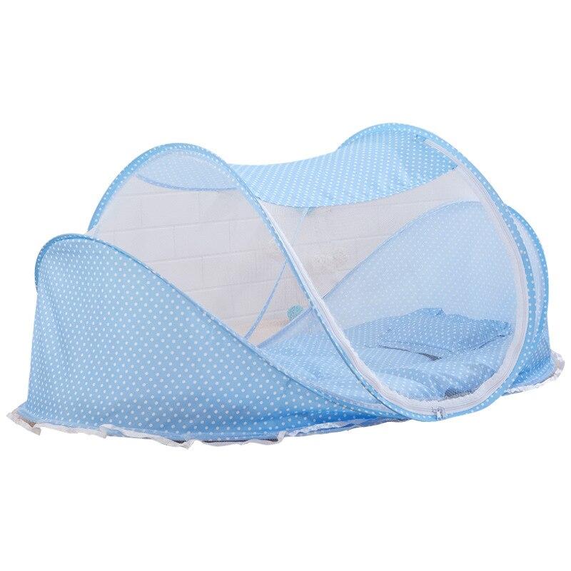 /Ét/é b/éb/é voyage lit moustiquaire portable b/éb/é lit berceaux tente de lit pliable avec coton pad matelas sac de musique