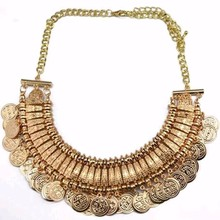 Buy TOMTOSH 2016 Promotion Silver Coin Collar Jewelry Gypsy Ethnic Choker Colares Colar Bijoux Collier Femme Maxi Statement Necklace for $3.00 in AliExpress store