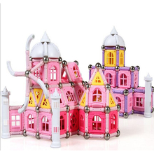 High quality new castle design 526PCS Child Early magnetic car sticks Education block figure Amazing Magnetic set