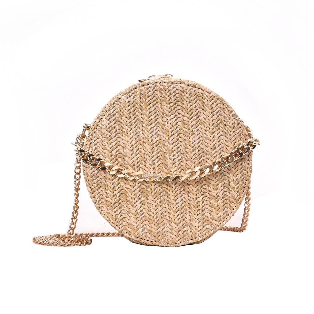 OCARDIAN Handbags Women Bag 2019 Beach Summer Rattan Fashion Tassel Weave Bag Ladies Shoulder Straw Bag Casual Circular A4 Сникеры