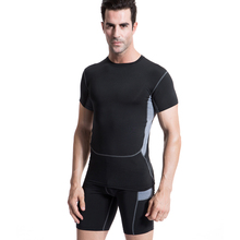 2017 New Summer Compression Tights Running Set Quick Dry Suit Gym Sportswear Fitness Short Sleeve T Shirt Shorts Tracksuit Men