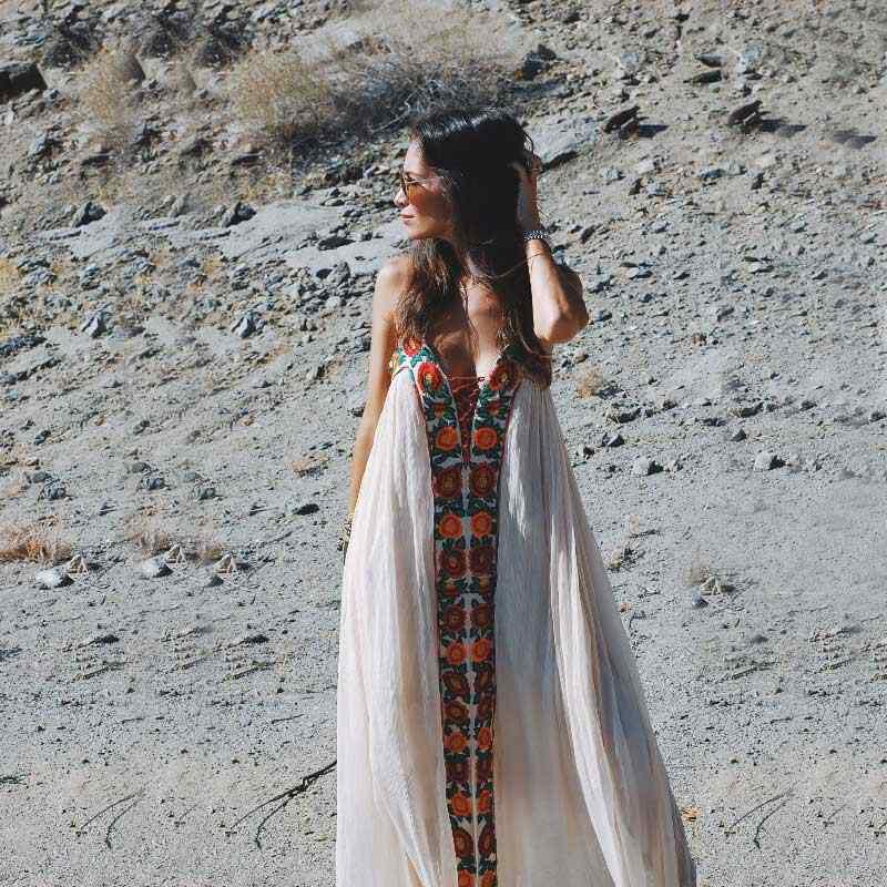 Boho Inspired Summer Dresses Strapless Floral Embroidery Sexy White Maxi Dress Long Women Dresses Hippie Chic Vestido Robes Dress Hippie Dress Straplessdress Long Aliexpress