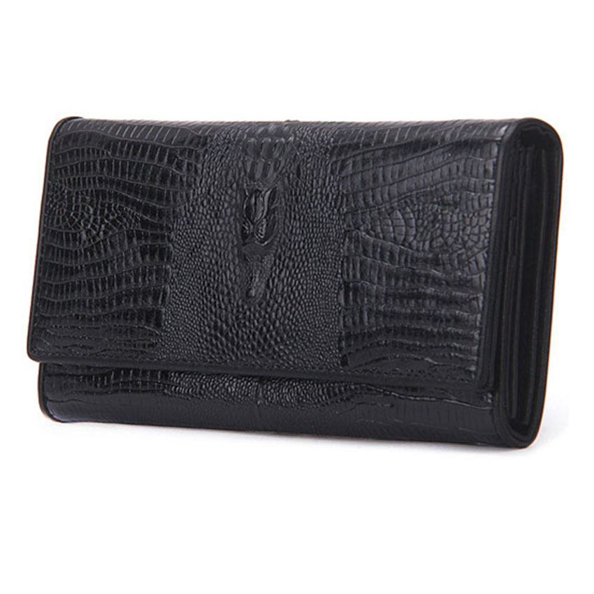 Womens Purses Natural Genuine Leather Women Wallet High Quality with Fashion Design Vintage Women Clutch With Phone Pocket<br>