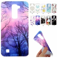 For LG K7 X210 MS330/Tribute 5 LS675/M1 Soft TPU Cute Cartoon Lemon Bike Tree painted Rubber Back Cover Silicon Gel phone case(China)
