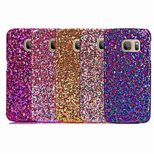 Luxury Fashion Candy Sparkling Phone Cases Covers Crystal Bling For Samsung Galaxy S7 Edge via China Post Registered Air Mail