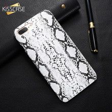 KISSCASE Leather Case For iPhone 7 8 Plus Retro Snake Crocodile Slim Hard Back Cover For iPhone 6 6S Plus 5 SE Cover Shell Bag