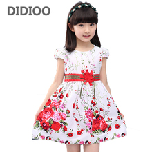 Princess Party Dresses For Girls Wedding Dresses Floral Print Kids Prom Dresses Summer 2017 Sundress 4 6 8 10 12 Years Vestidos(China)