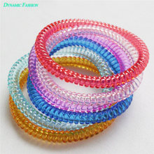 5PCS Korean Candy Elastic Wire Hair Phone Cord Tie Band Ponytail Headband Hair Bands 087