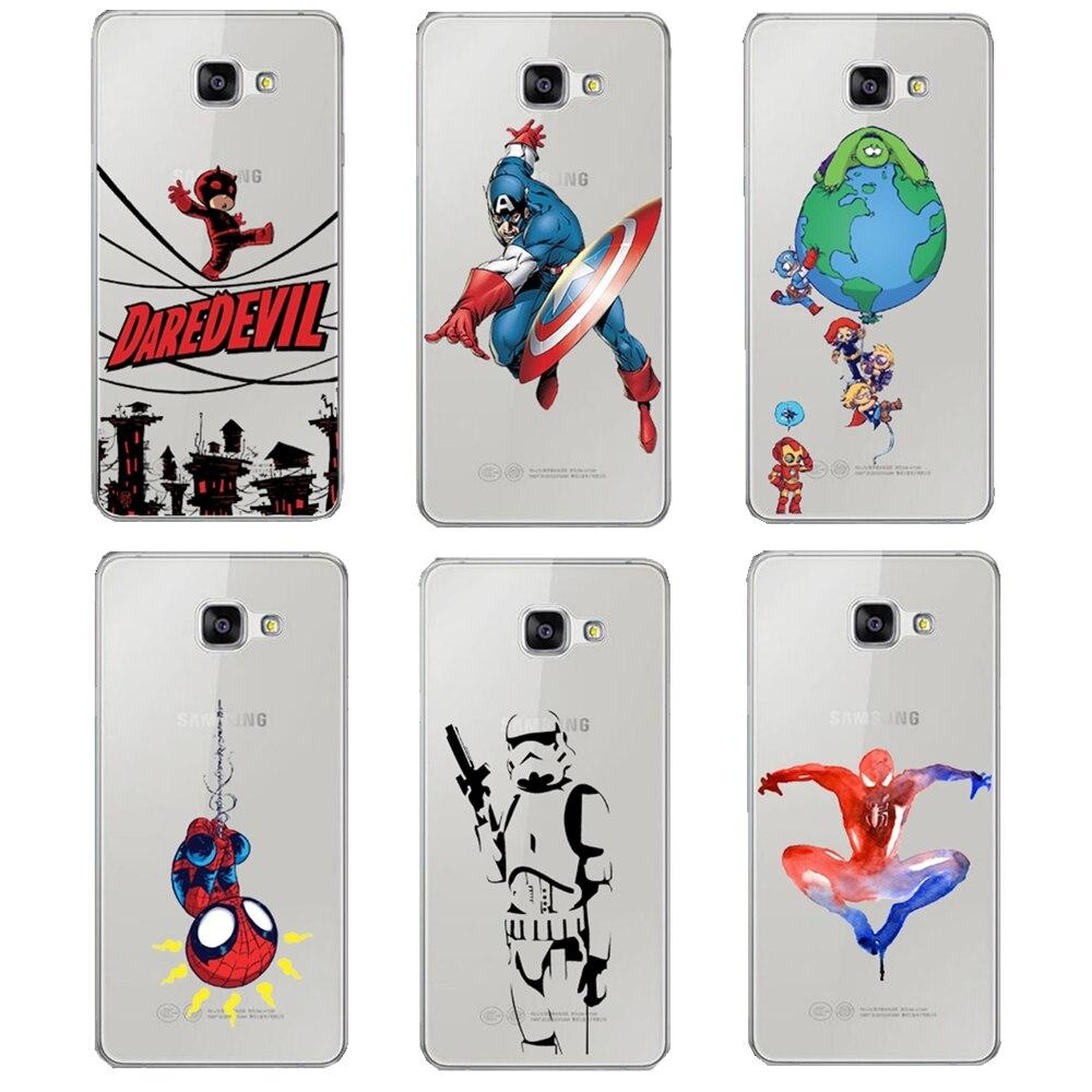 Marvel Hero Captain America Design Case Cover Samsung A3 A5 A7 J1 J5 J7 2016 A310 A510 A710 J120 J510 J710 STAR WARS Shell