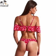 Micro Bikini Swimwear women Halter Mesh Biquini Female brazilian Beachwear bikini set bathing suit girl solid swimsuit 2017(China)