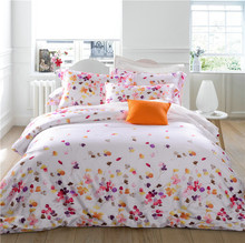 IvaRose watercolor bedding set king queen size Doona duvet cover bedsheet Pillowcase 4pcs bed sets 100% Tencel Fabric