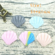 Kawaii scallop shell  flatback resin cabochon for phone deco  hair bow diy  Scrapbook Embellishment
