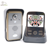 BearHoHo Video Door Phone 2.4GHz  Wireless Intercom Door Bell 3.5 inch LCD Handheld Monitor PIR Motion Detection Take Pic.