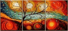 NEW 100% hand-painted  famous oil painting high quality Modern artists painting Abstract tree star DM-20141227016