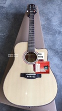 high quality full shell binding thin body acoustic-electric guitar free shipping(China)