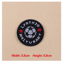 High Quality 1PC Patches For Clothing Embroidery Football Badge Patches For Apparel Bags Hat Cap DIY Accessories
