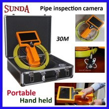 Portable New model HHand held Pipe inspection video camera with 30m cable, underwater well video inspection camera, best quality