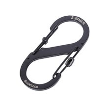 Camping Portable 8-Shaped Stainless Steel Key-chain 8 Ring Carabiner Snap Traveller's Slide Locking Clip  Tool Gear HX330