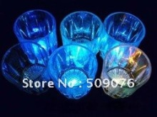 Free shipping 24pcs/lot 60ml/2oz 6*5*4cm color changing led flashing cup led small cup drinking cup for party