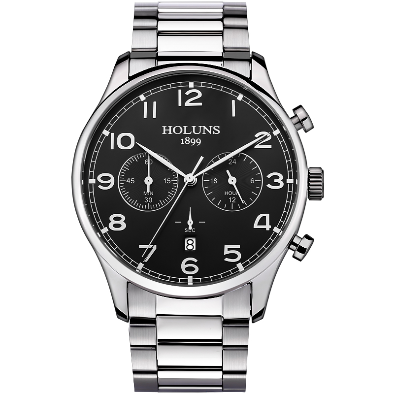 HOLUNS Brand Fashion Mens Full stainless steel Military Casual Sport Watch waterproof relogio masculino quartz Wristwatch Sale<br>