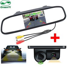 3in1 Sound Alarm Car Video Parking  Sensors Assistance Rear View Camera + 4.3 inch Car Rearview Mirror Monitor