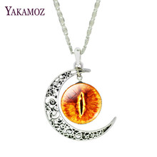 Classical The eye of Sauron Design Pendant Necklaces Moonlight Gem Series Fashion Men/Women Jewelry Silver Plated Jewelry 2017(China)
