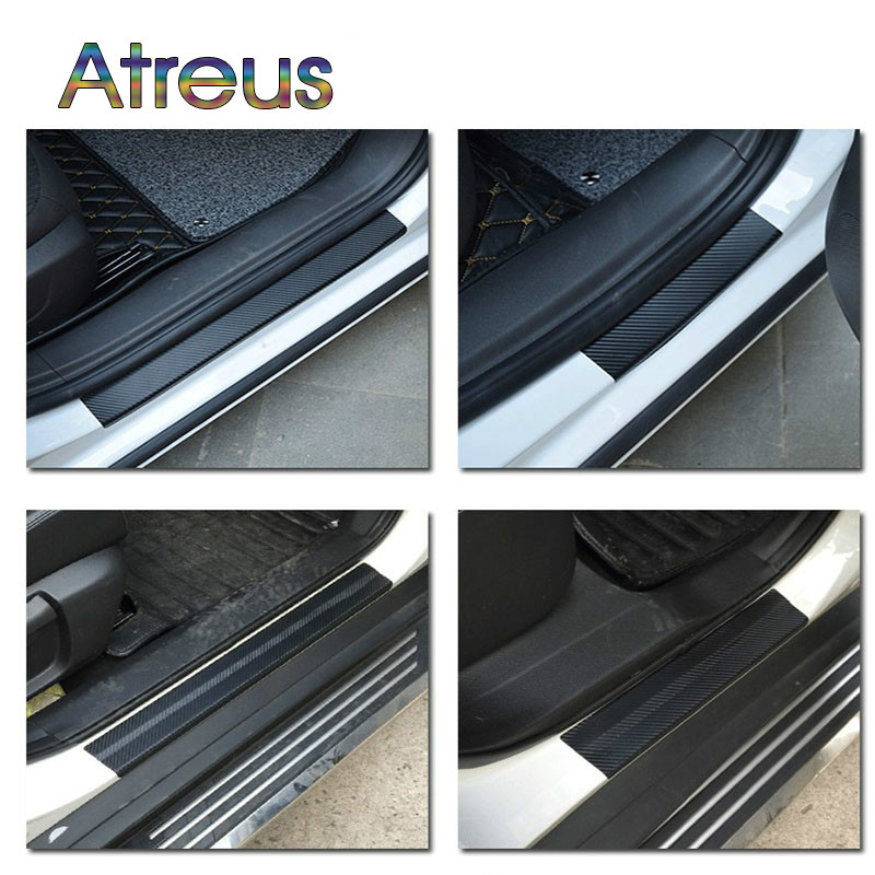 4PCS //////M Sporty Door Anti Scratch Bumper Scuff Accessories Sticker for Audi BMW