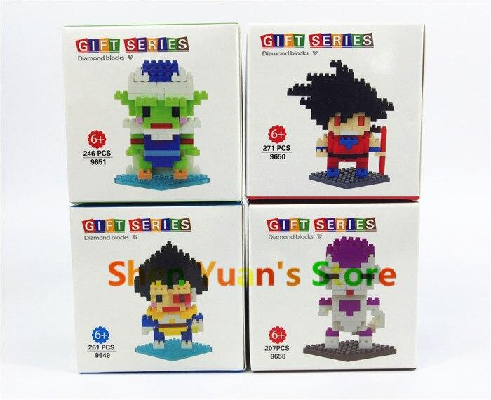 Dragon Ball Z Toy Building Block Action Figures Son Goku Piccolo Vegeta Frieza Anime Toy 2015 New<br><br>Aliexpress