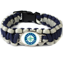 Mix 19 Color Can Choose MLB Paracord Bracelet Seattle Mariners Baseball Team Charm Bracelet Survival Bangle