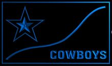 b-244 Dallas Cowboys beer bar pub club 3d signs LED Neon Light Sign vintage home decor man cave(China)