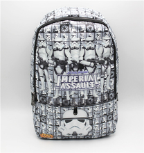 Star Wars bag cosplay white knight Backpack shoulder computer school Book Bag(China)