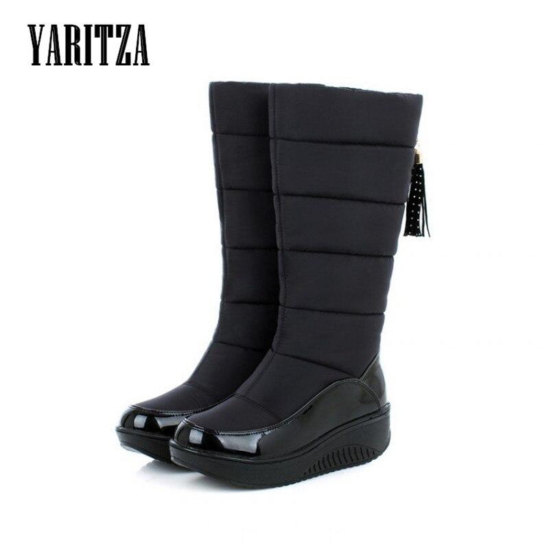 YARITZA Hot 2017 new Women Winter Boots warm Cotton Warm shoes waterproof boots snow boots fur platform knee high boots<br>