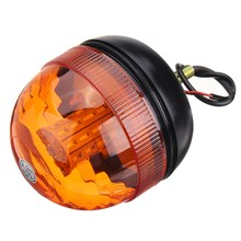 NEW Safurance LED Rotating Flashing Amber Beacon Flexible 1 Bolt Tractor Warning Light 9-30V Traffic Light Roadway(China)