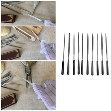 10pcs 3x140mm Stone Jewelers Diamond Wood Carving Craft Metal Needles Files Sets Metal File Hand File for Wood Carving Craft