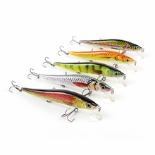5 Color 12cm/14.6g New Minnow Fishing Lure Realistic Fishing Bait Unique Texture Crankbait Fish Tackle Wobbler Pesca Isca HML09C(China)