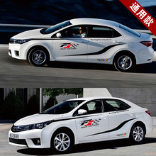 Simply F1 Sport Race Whole Body Sticker For Toyota Corolla Z2CA579(China)