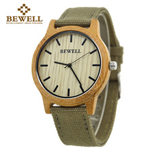 BEWELL Bamboo Wood Watch Luxury Brand Analog Digital Quartz Watch Men Women Watch Dropshipping Ladies Watch Unique Clock Men 134(China)