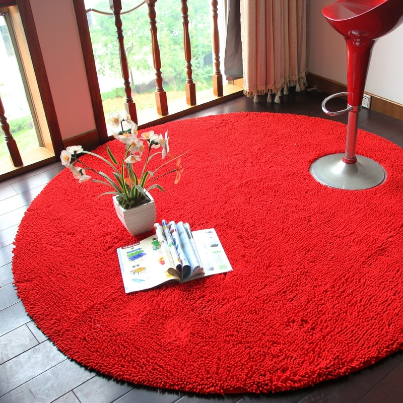 Wonderful Home Decor Chenille Round Carpets Yoga Mat