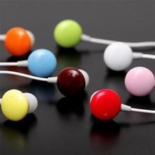 Hot Sale New 3.5mm Candy Bean Shaped Colors Earphone For Computer Mobile Phones MP3 MP4 Player(China)