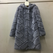 2017 100% natural rex rabbit fur women real coat high quality genuine rex rabbit fur chinchilla color winter jacket