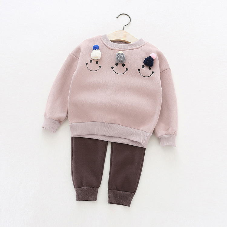 2016 winter and autumn new childrens girls clothing thicker fleece sweater + pants two-piece children2pcs clothes set suits<br><br>Aliexpress