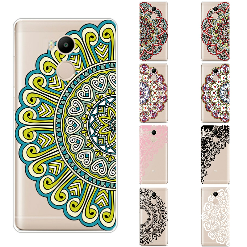 Phone Case Xiaomi Redmi 4 Pro Cover 5.0 inch Transparent Ultra Thin Redmi 4s Prime Shell Silicon Flower Pattern
