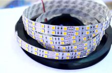 Super Bright 5m/lot 5050 SMD 600 LED Strip DC12V not waterproof Flexible Light 120 leds/m,White Warm White RGB free shipping