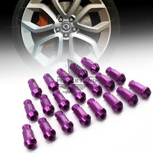 Universal Fit Hight Quality Billet Aluminum Car Styling 20pcs D1 Spec Racing Wheel Lug Nuts M12X1.5 for Ford Toyota Purple