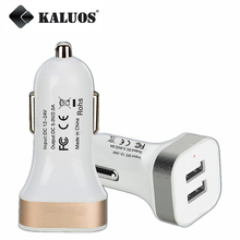 KALUOS Dual Output USB Car Charger For iPhone 5 5S 6 6S Plus Samsung Galaxy S4 S5 S6 S7 Edge Note 5 LG G3 Universal Auto Adapter