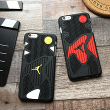 3D fashion USA tide brand flying Jordan soft silicone + plastic hard phone case for iphone 6 6s 7 8 plus Sole stripes cover(China)