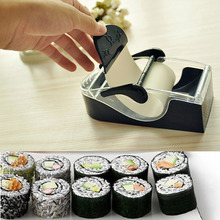 Fashion Prefect Easy DIY Sushi Maker Roller equipment/perfect roll mold/set for making Roll-Sushi box kitchen accessories S2(China)