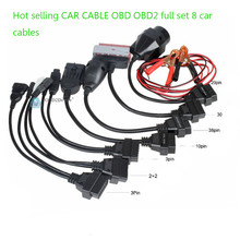 The best 8pcs CDP Car Cables OBD 2 Connector Cables Full Set Car Cables for TCS Car Diagnostic Cables with Free Ship