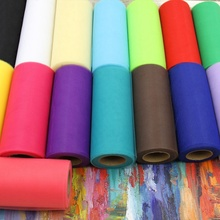 22m x15cm Colorful Tissue Tulle Roll Spool Craft Wedding Party Decoration Table Runner Organza Gauze Chair Sashes Bow Fabric