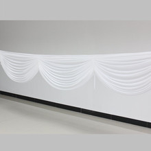 White Ice Silk Swag for Wedding Backdrop Decoration Table Decoration 6m length Fast Shipping